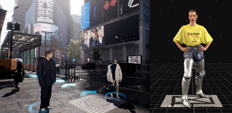 《时尚先生》国际中文版《绅士杂志》-《滇宇人科2031》?  BALENCIAGA 2021年秋季系列使用视频游戏来预测人类服装的未来。 这也表明时装设计师和游戏设计师的工作实际上是相同的