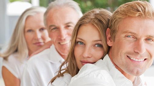 Portrait of smiling family