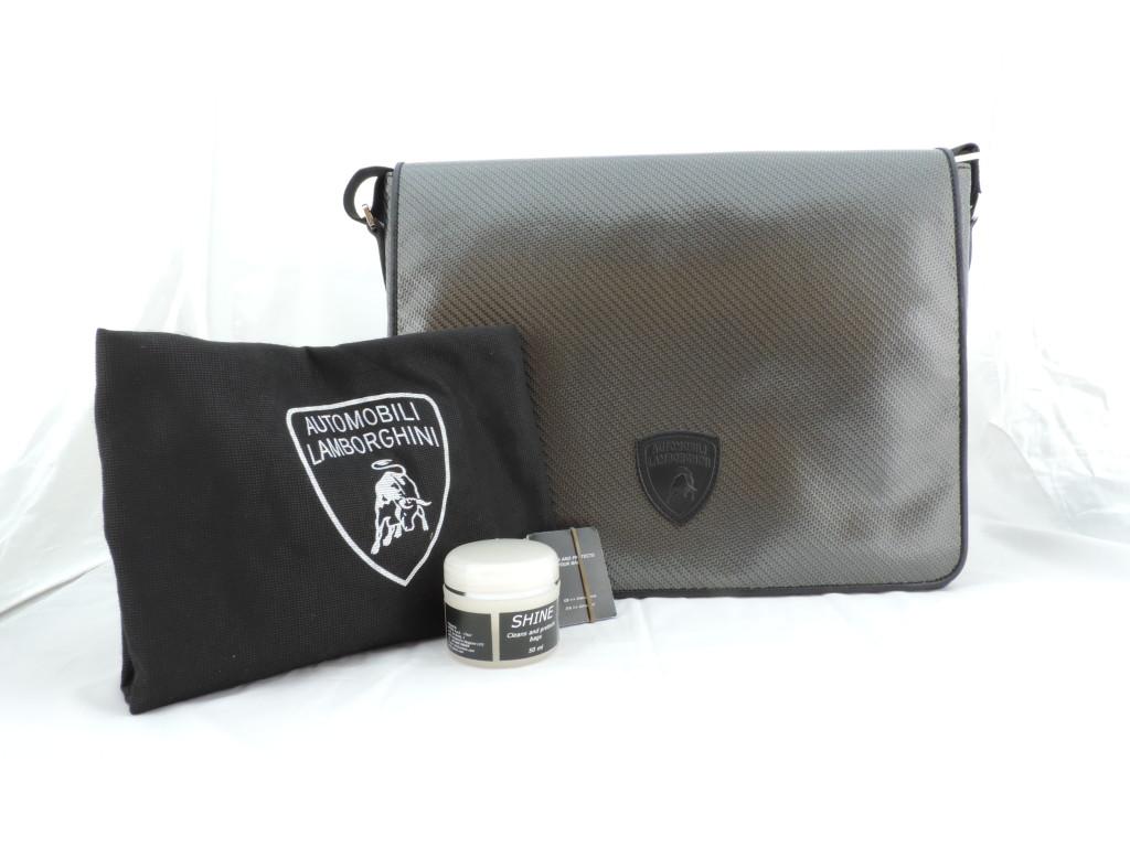 Lamborghini碳纖維側背包(全球限量)_$63,920