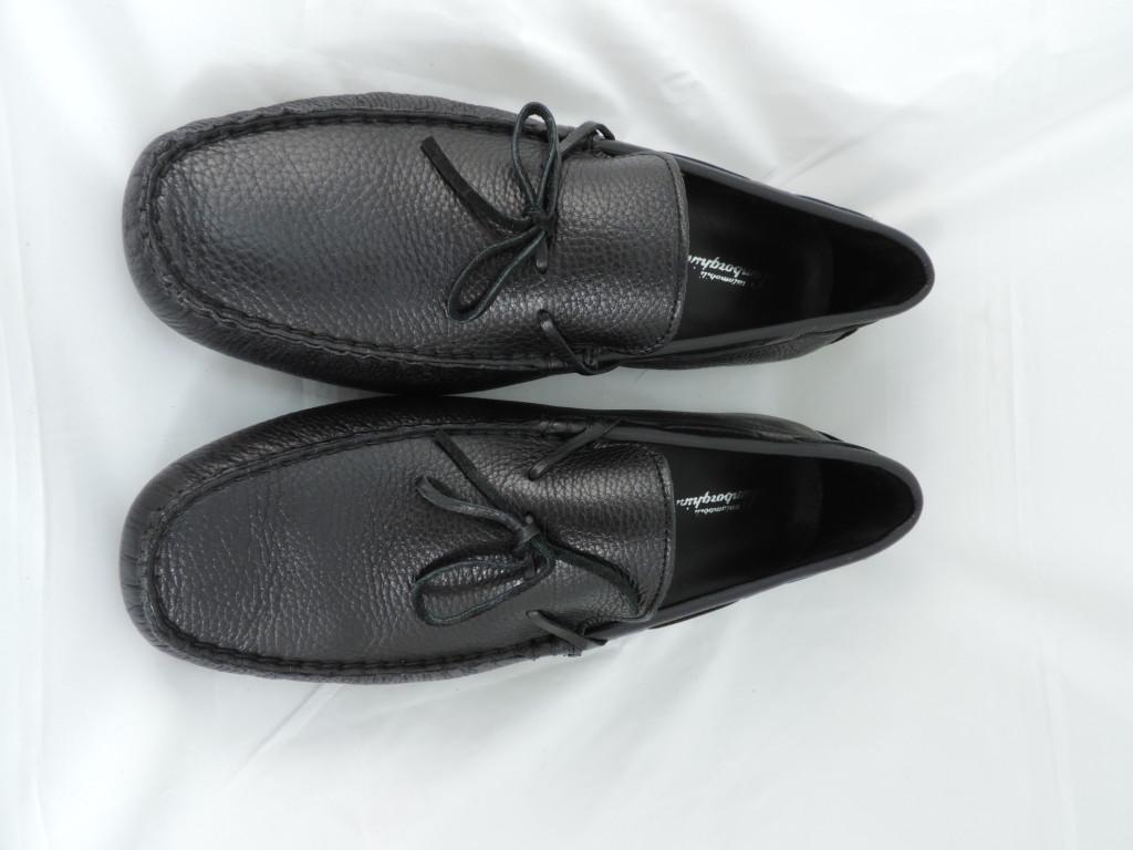 Lamborghini黑色皮革綁帶懶人鞋_$5,680