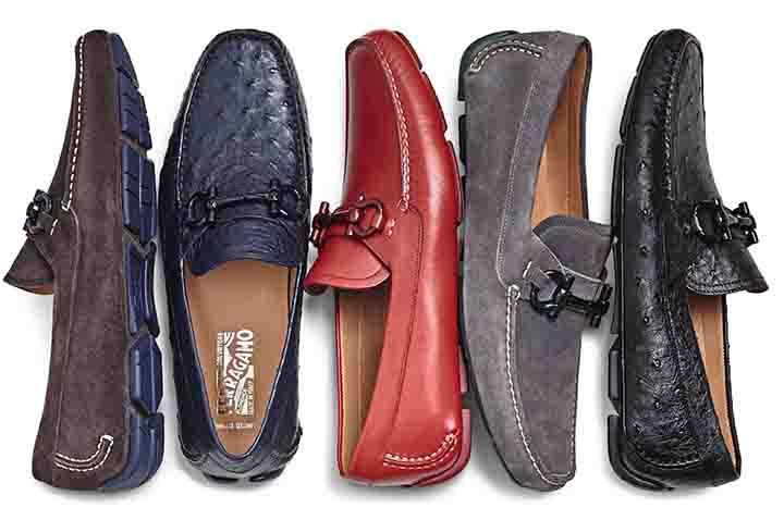 Driver MTO開車鞋訂製鞋款系列-麂皮與牛皮鞋款, 建議售價NT$29,900; 鴕鳥皮鞋款, 建議售價NT$84,900