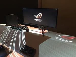 34吋3440 x 1440 IPS曲面電競顯示器ROG Swift PG348Q等重裝精銳,以及顯示卡ROG Matrix GTX980 Ti Platinum、滑鼠、鍵盤等全系列驃悍電競配件