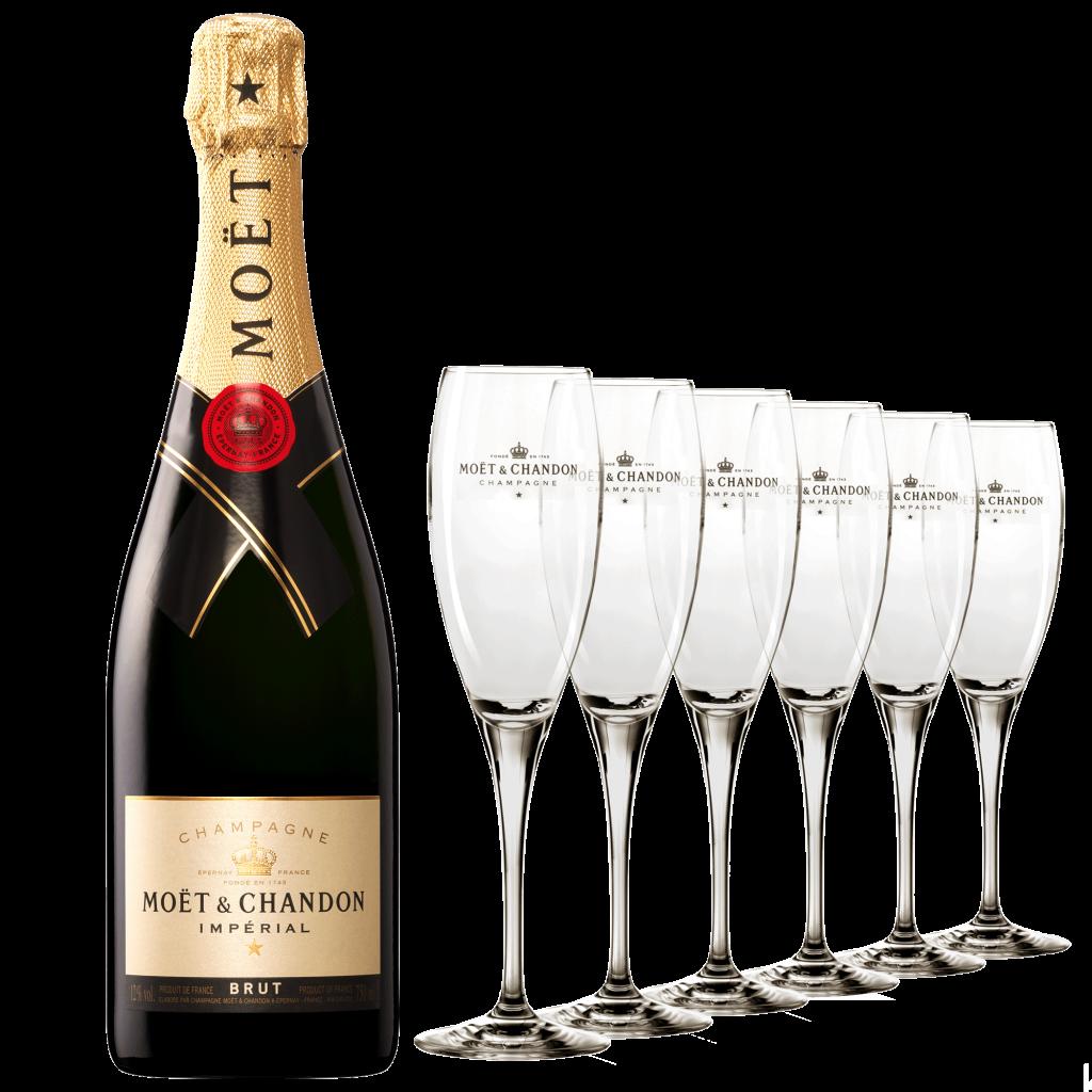 店內購買6瓶酩悅香檳(750ml)即可免費租用最多12只酩悅香檳香檳杯及冰桶