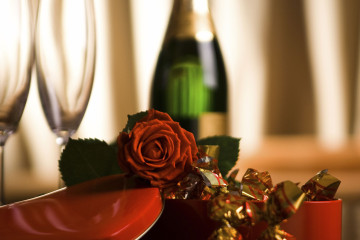 Still life composition for Valentin day