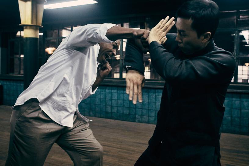 前世界拳王泰森第一次演動作電影,拍攝現場的過招可說是雙方本能的應對。