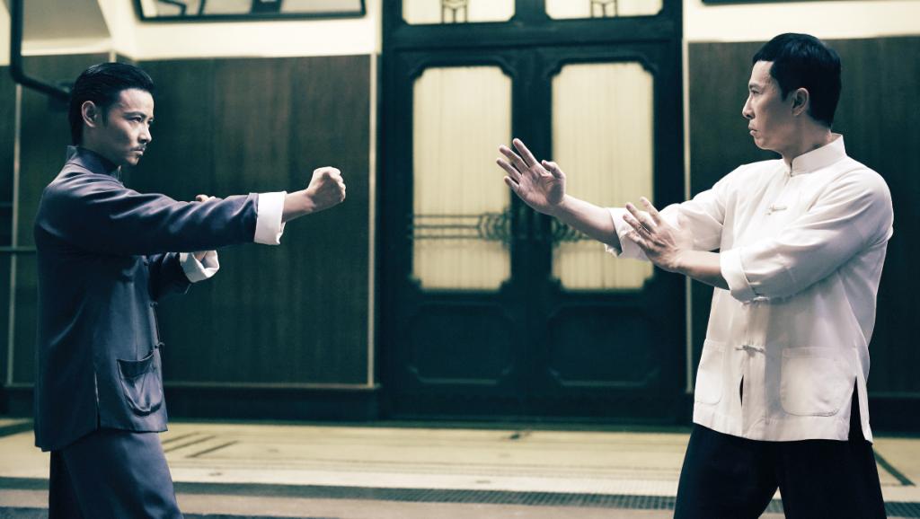 甄子丹與同樣武指出身的張晉在電影中有精彩的詠春同門對戰。