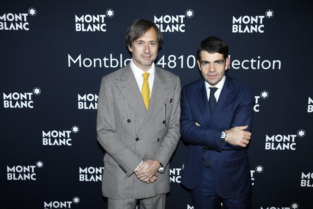 (左至右)知名設計師馬克紐森(Marc Newson)、萬寶龍全球執行長傑羅姆蘭伯特(Jerome Lambert)出席品牌2016 SIHH晚宴