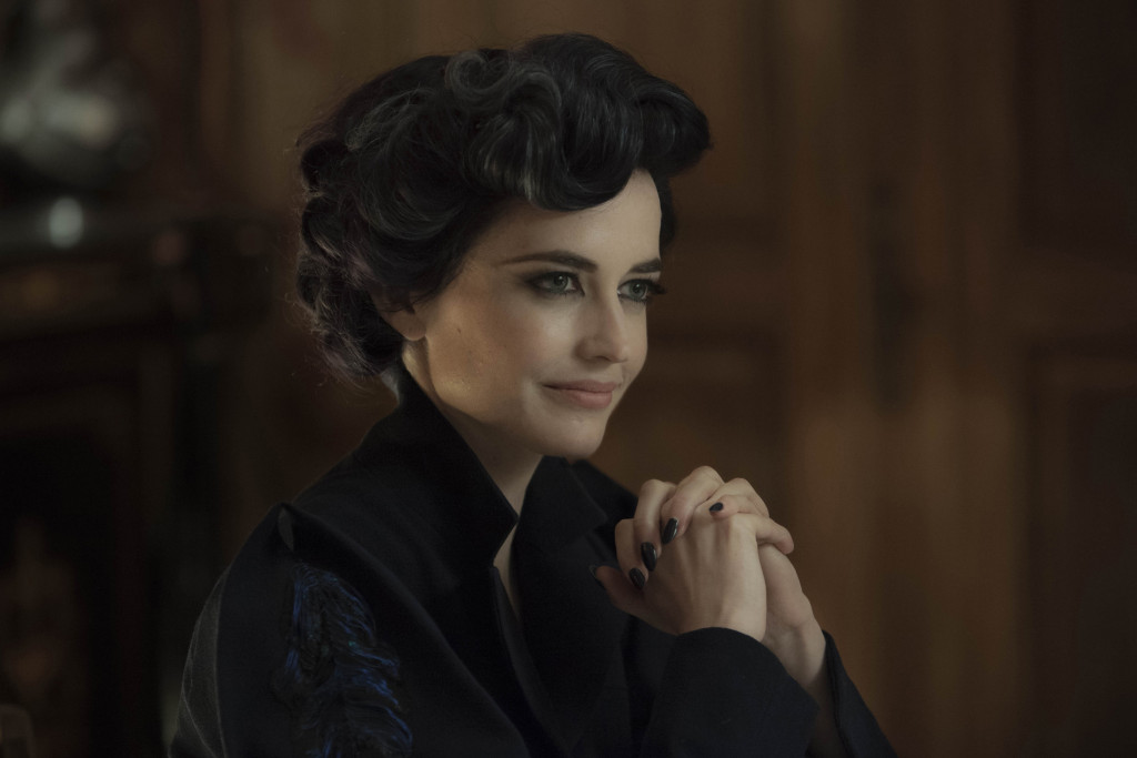 DF-02399crop - Eva Green portrays Miss Peregrine, who oversees a magical place that is threatened by powerful enemies. Photo Credit: Leah Gallo.