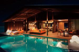 Club Med最新落成的芬尼芙獨棟水上別墅,每間均擁有私人管家及寬敞親水空間。