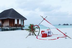 一島一飯店是這裡最基本的旅遊模式,尊貴的客製化服務更是令人嚮往。