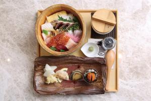 店內招牌的特上海鮮丼套餐,每日限量10份。
