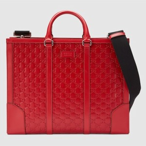 Gucci Signature 皮革壓紋公事包 NT$ 93900