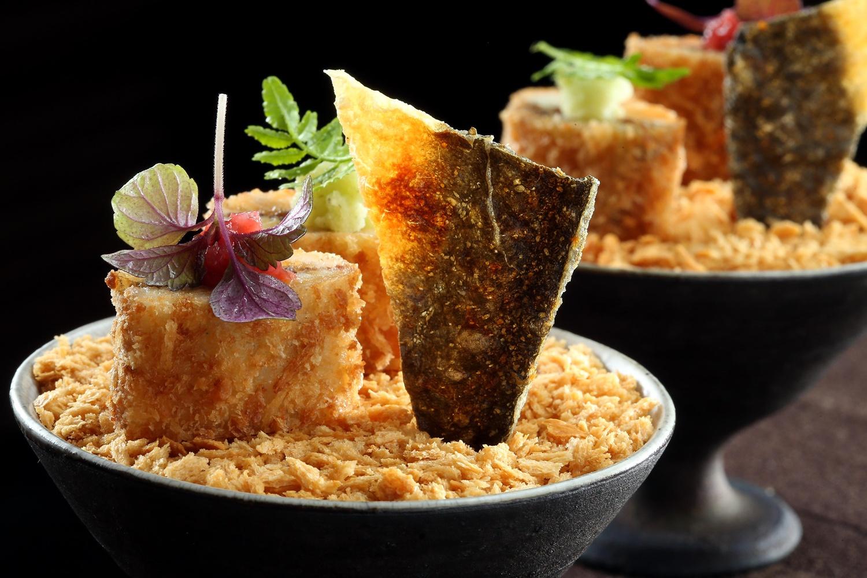 鮮美的炸鰻魚搭配清爽阿里山山葵及紀州梅醬