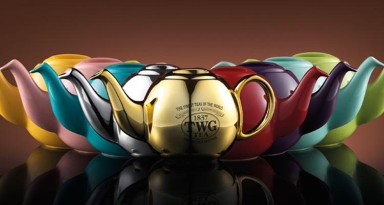 全新TWG Tea現代藝術蘭花茶壺系列,新台幣3,550至5,500元