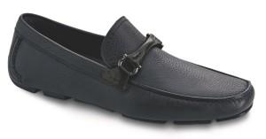 Ferragamo GRANPRIX深藍色牛皮休閒鞋,售價NT$21,900