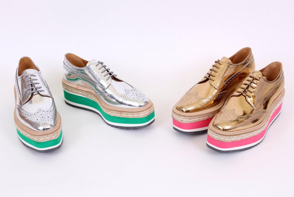 PRADA Micro Sole厚底訂製鞋 牛皮材質(6.5公分高)$47,000
