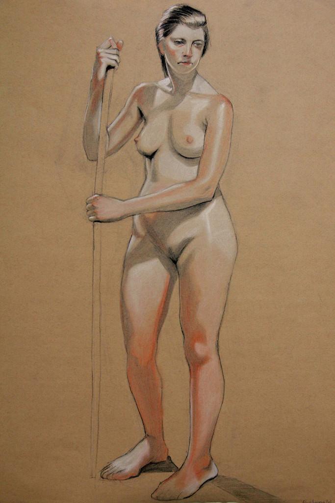 吳佳諭《女人人體素描1》