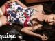 印花裙裝泳裝_$4,500 by WET Swimwear;白色大腿襪_價格電洽 by Chantal Thomass。