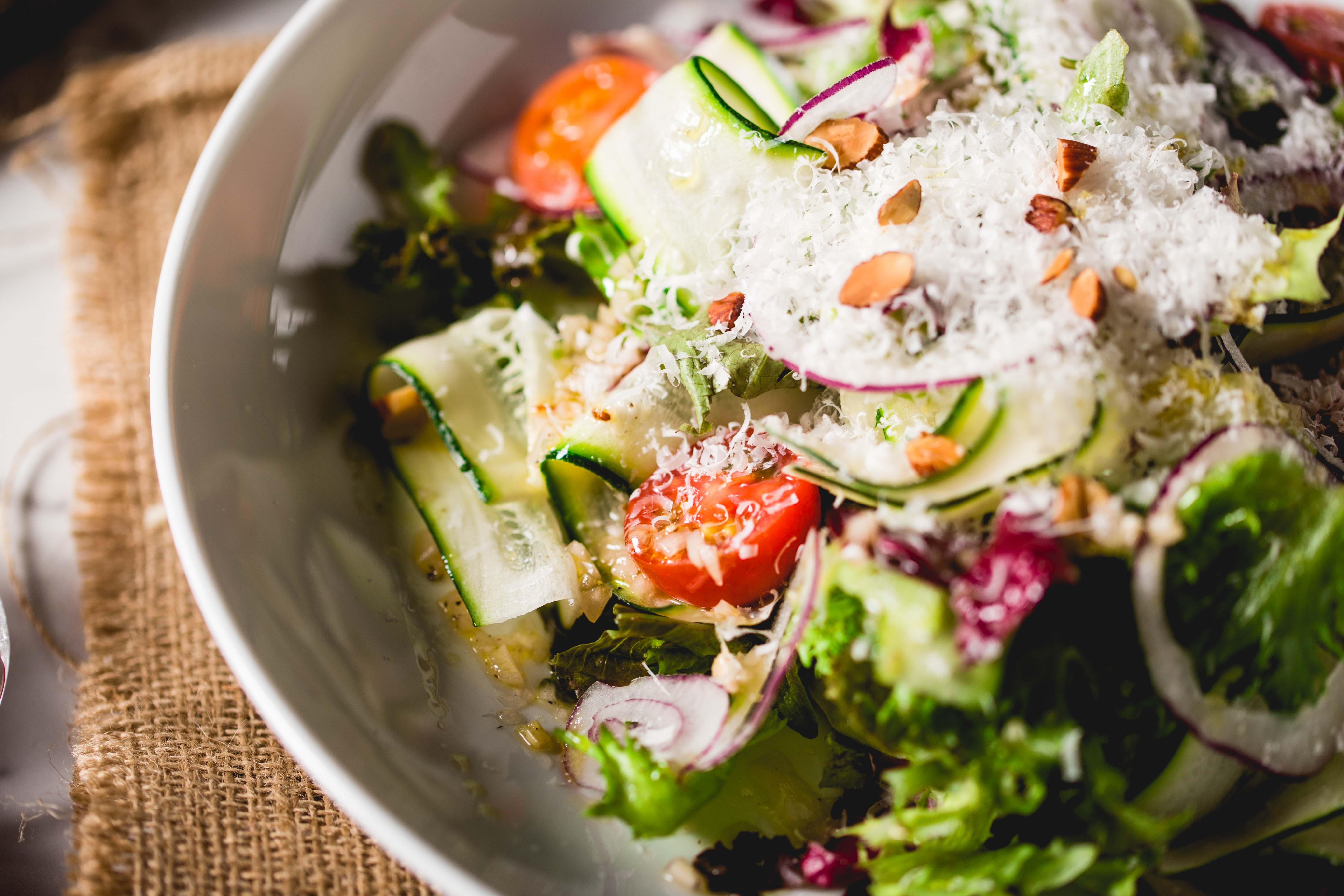 前菜 萵苣櫛瓜沙拉