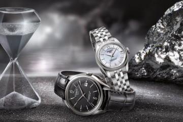 圖1. 全新Ballade寶環系列矽游絲COSC男女款腕錶