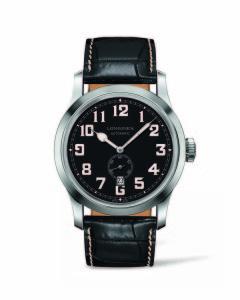 浪琴表復刻系列1918 復刻軍錶 (L2.811.4.53.0),建議售價NT$65,700