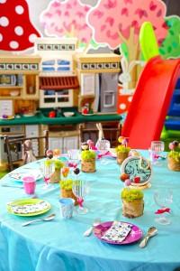 「迷你壽星派對」宴會專案_童心園教具搭配豐富兒童桌