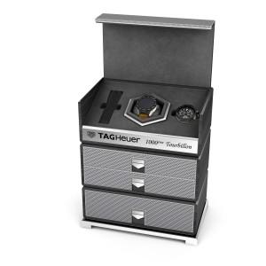 TAG Heuer智能腕錶與陀飛輪雙模組腕錶義賣套組,起標價約新台幣630800元。