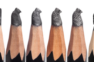 GAME OF THRONES Pencil Microscupture Exhibition - Making of the Stark Sigil