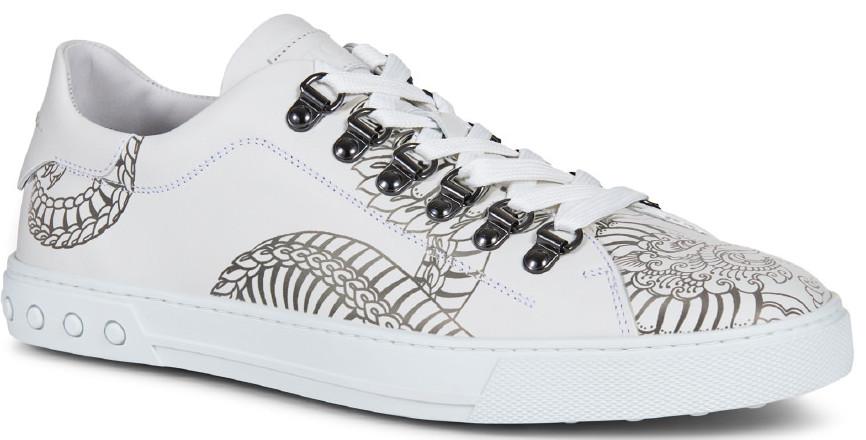 男士刺青圖騰系列:釘釦繫帶休閒鞋