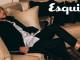 紅白條紋綁帶裝飾黑色風衣_$110,000、經典黑色晚宴西裝褲_價格電洽 by Dior Homme;晚宴襯衫_價格電洽 Saint Laurent;黑色蝴蝶結裝飾皮鞋_價格電洽 by Versace。