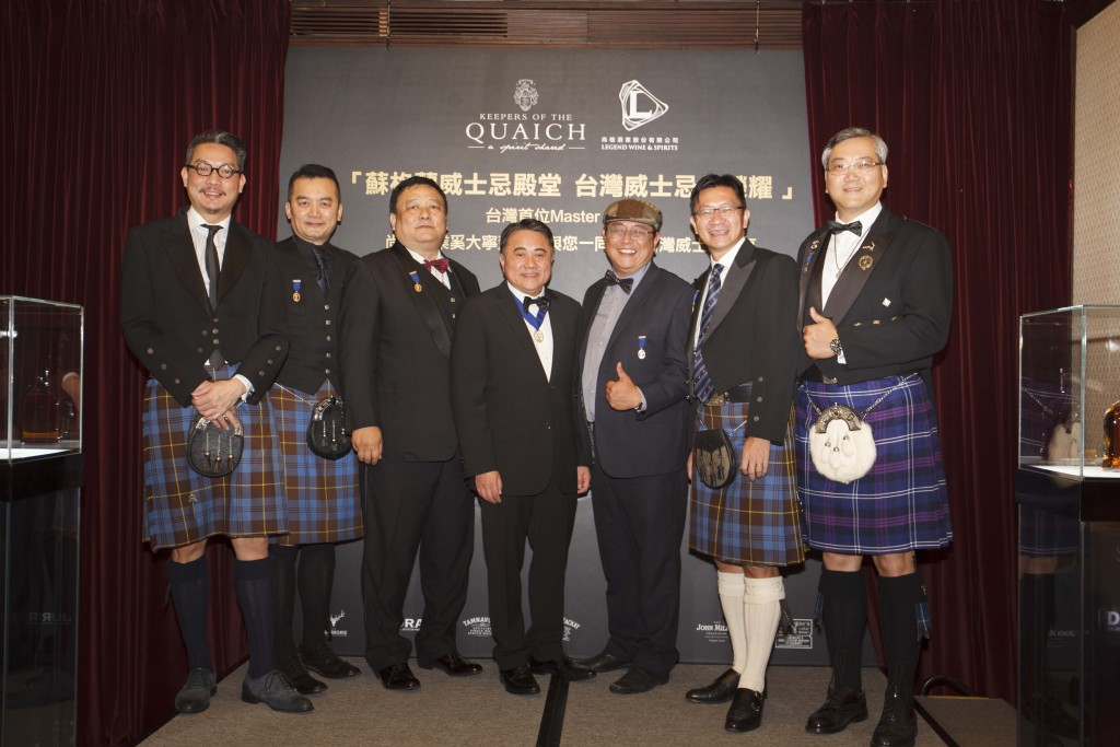 台灣第一位Master Keeper尚格酒業董事長奚大寧與Keeper們的合照(由左至右林一峰、Kenny Wang、利民、奚大寧、賴偉峰、姚和成、徐振雲。