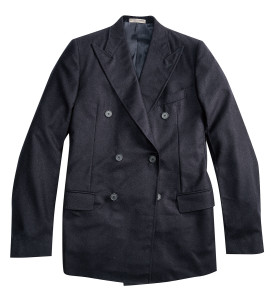 雙排釦西裝外套 by Bottega Veneta。