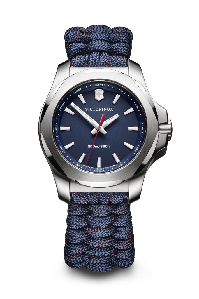 INOX V_深藍錶盤加緹花傘繩錶帶NTD20800