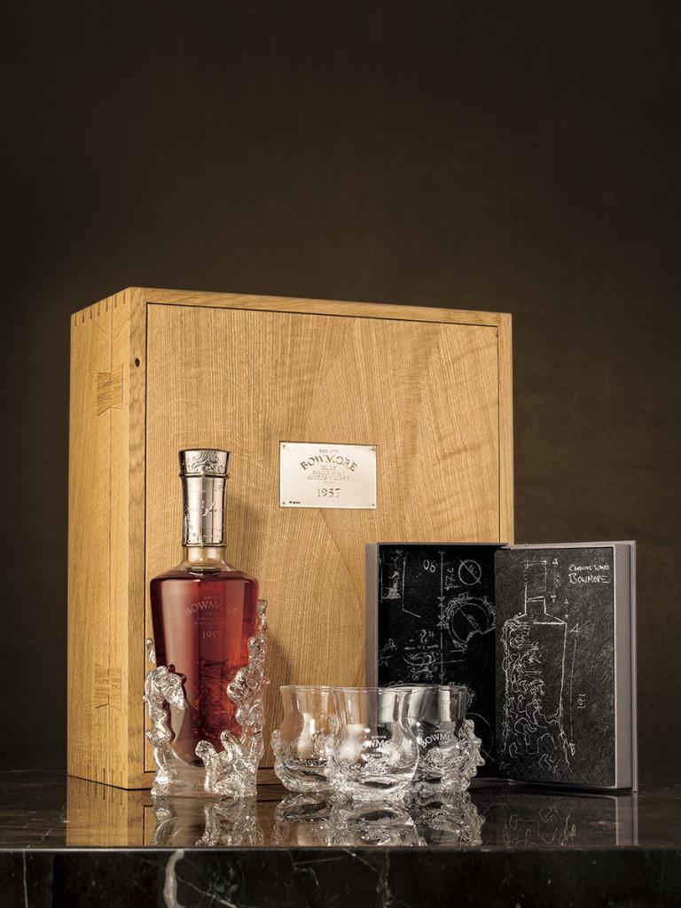 全球限量僅12瓶的Bowmore酒廠最老年份作品 1957 54年。