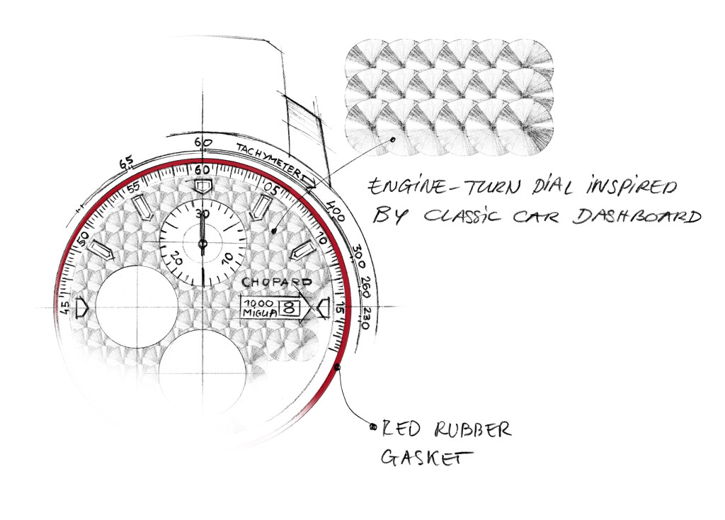 Mille Miglia 2017 Race Edition - Sketch 1 - Engine-turned dial