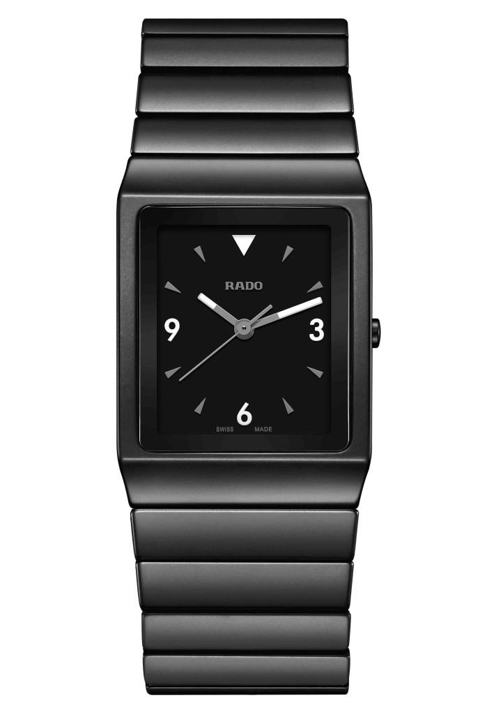 Rado Ceramica 整體陶瓷系列霧面黑色高科技陶瓷腕錶 全球限量701只。