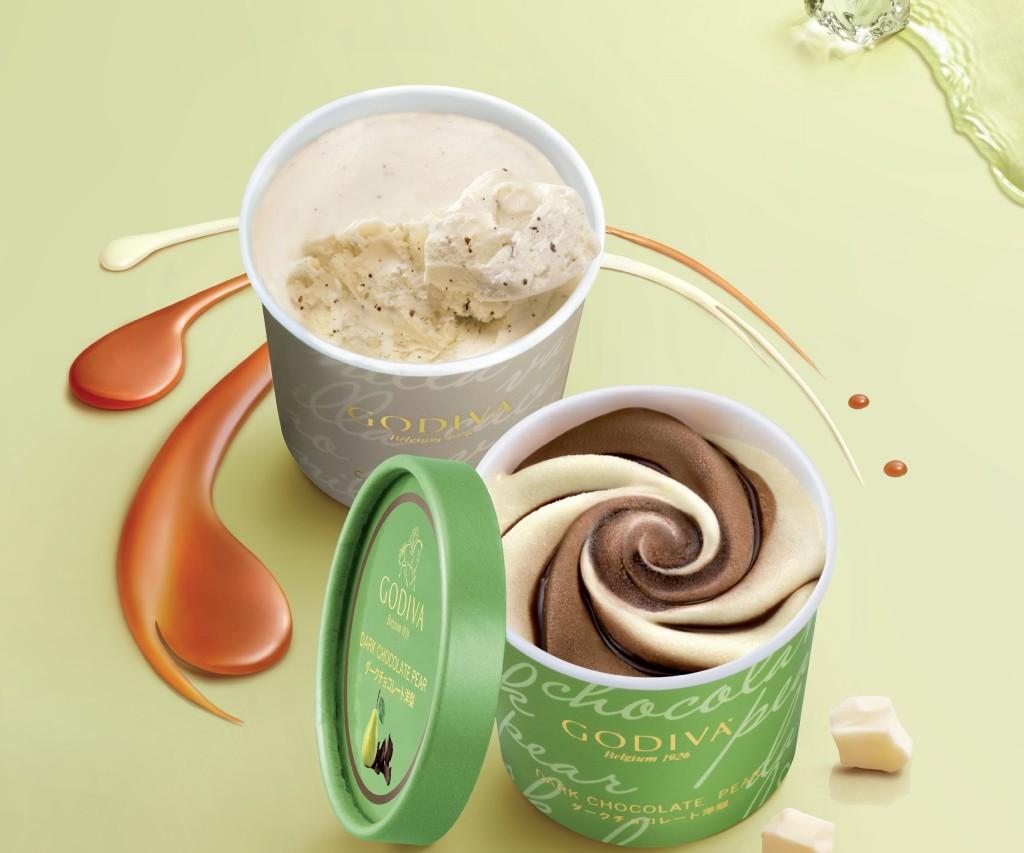 全新季節性口味:梨子黑巧克力及香草可可巧克力。