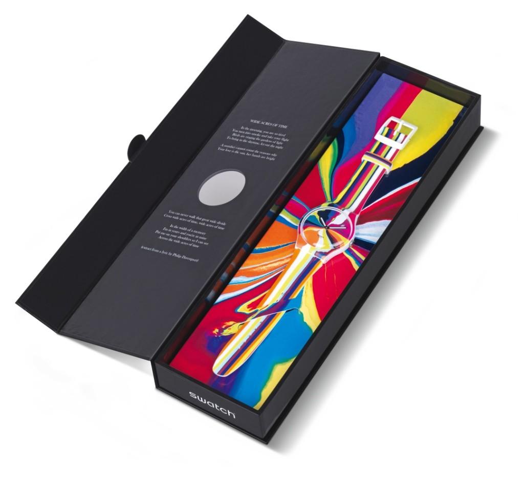 『WIDE ACRES OF TIME 紛彩時光 藝術家聯名限量腕表』 (SUOZ269S),建議售價 NT$4550