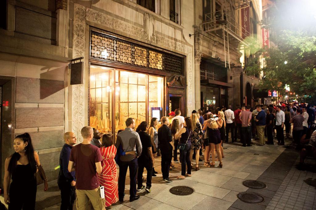 十八街酒吧和舞廳外的街道
