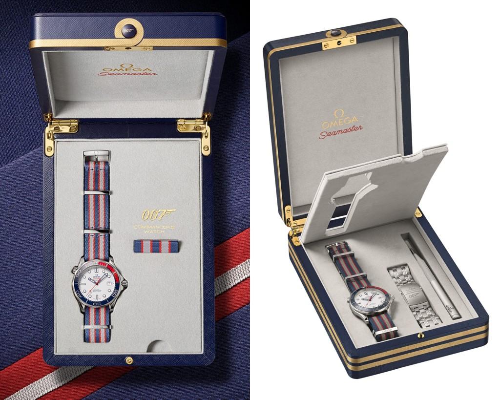 海軍勳章盒獨特錶盒,內含更換工具與NATO錶帶同款設計的「海軍別針」