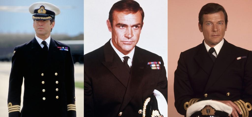 (左至右)皮爾斯布魯斯南主演的第二部007電影《明日帝國Tomorrow Never Dies》20週年紀念、史恩康納萊最後一次飾演龐德的《雷霆谷You Only Live Twice》007電影推出50週年、羅傑摩爾第三任龐德《海底城The Spy Who Loved Me》007電影40週年。