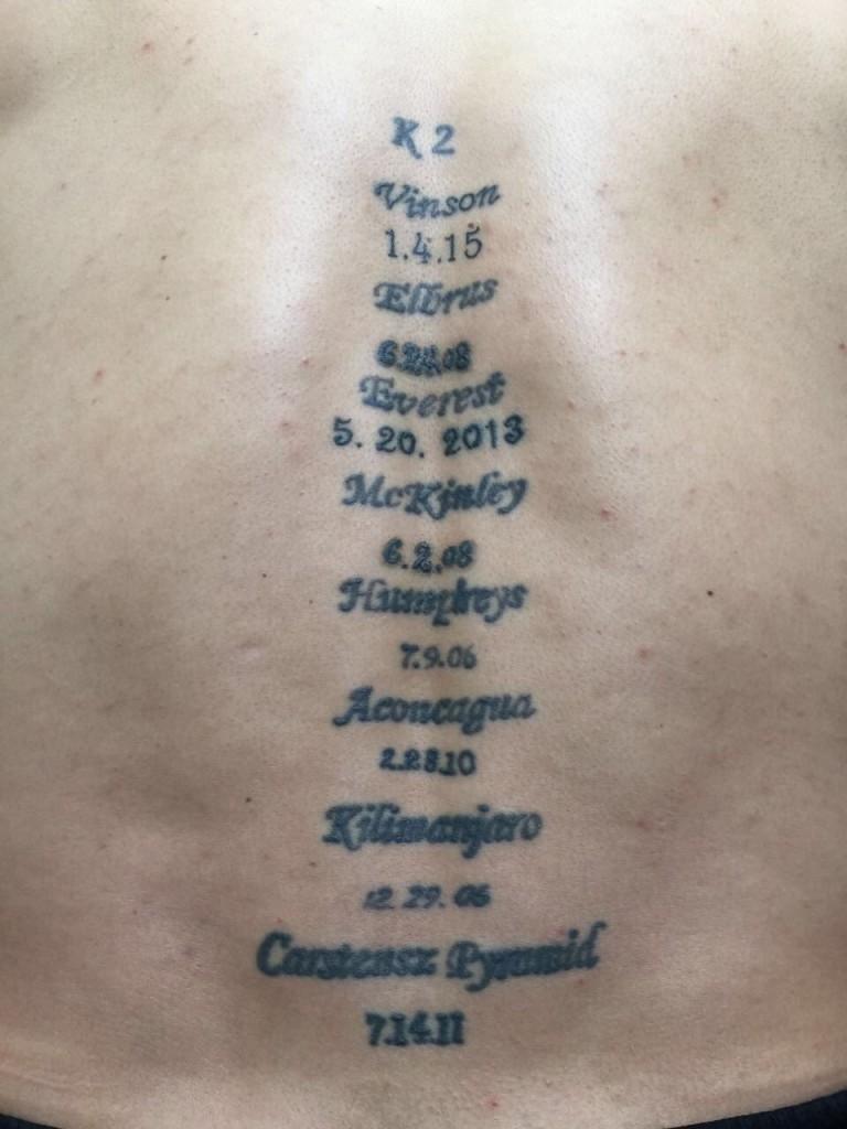 Roben身上的紋身,每一座山名,都是一個承諾。